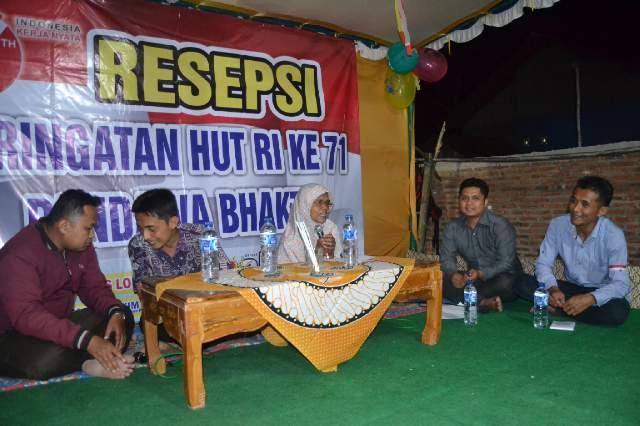 Resepsi HUT RI yang diadakan Pandawa Bhakti Wanasri, Desa Cingebul Kecamatan Lumbir, Banyumas (Foto: MS Ihsan)